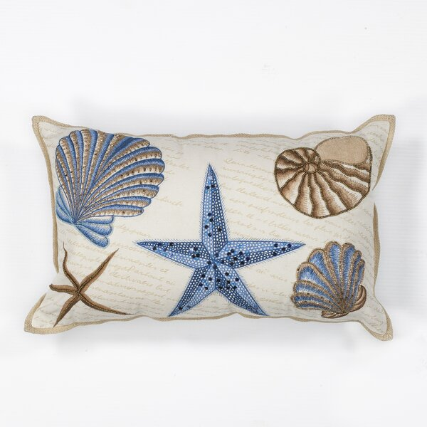 Maxwellton Seashells 100% Cotton Lumbar Pillow by Beachcrest Home